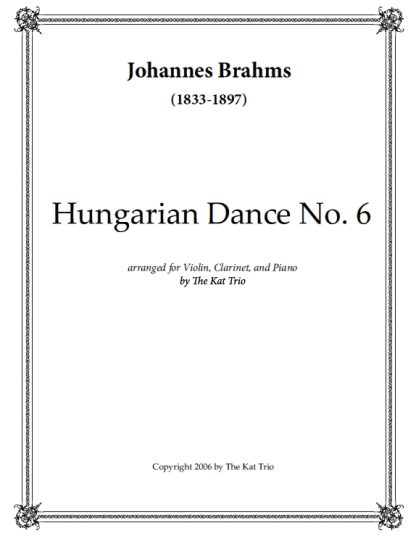Brahms Hungarian Dance No.6