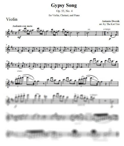 Dvorak Gypsy Song Violin Part