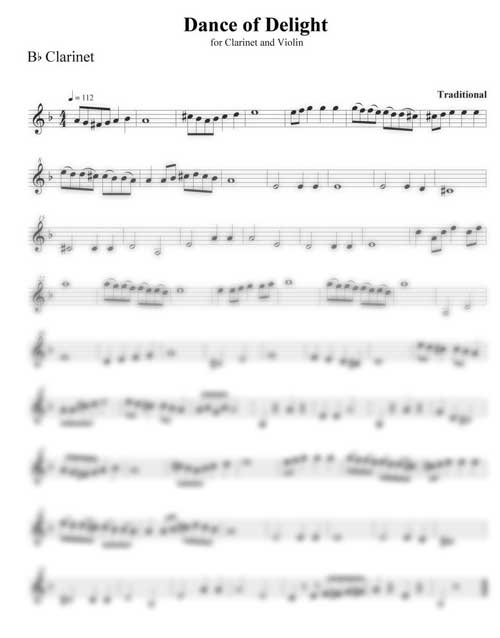 Dance of Delight clarinet part