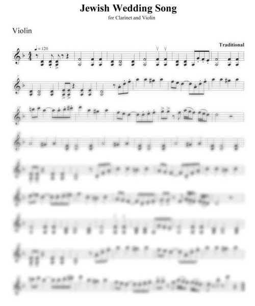 Jewish Wedding Song violin part