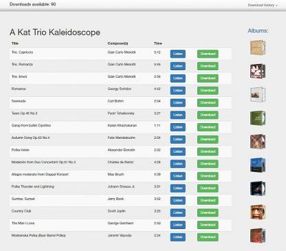 Download application - Tracks