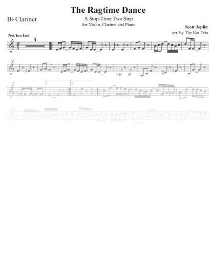 Joplin Ragtime-Dance clarinet
