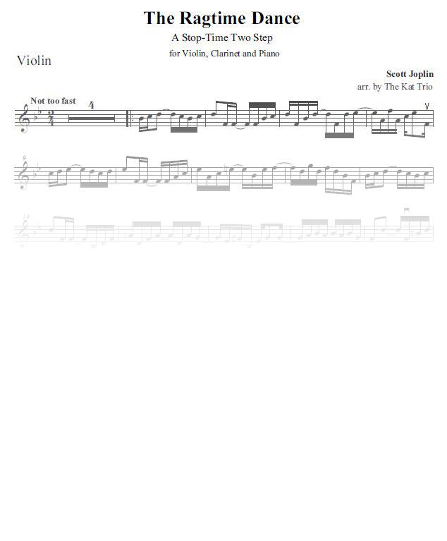 Joplin Ragtime-Dance violin