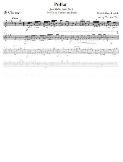 Shostakovich Polka clarinet