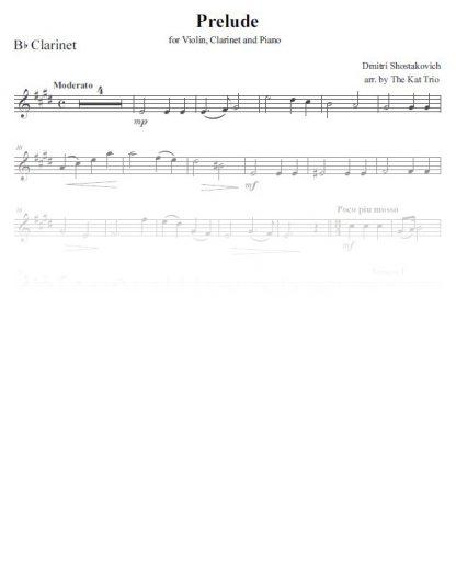 Shostakovich Prelude clarinet