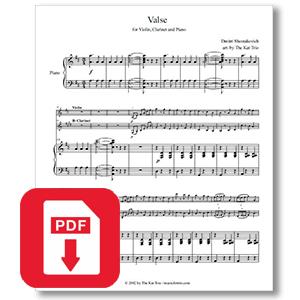 Dmitri Shostakovich - Gavotte - Music for Trio